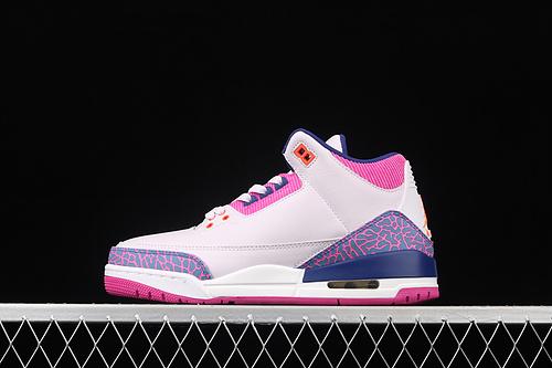 Air Jordan Brand Air Jordan 3 GS AJ3 乔3爆裂粉紫 头层篮球鞋 441140-500