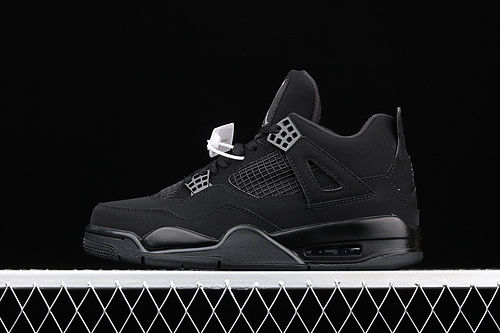 "J版 Air Jordan 4""Black Cat""AJ4 乔4黑猫 头层真标 CU1110-010"