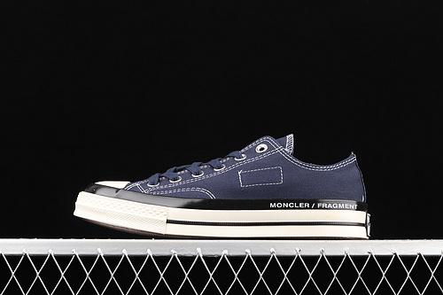 Fragment x Moncler x Converse 1970S 藤原浩闪电三方联名经典低帮帆布鞋 172323C