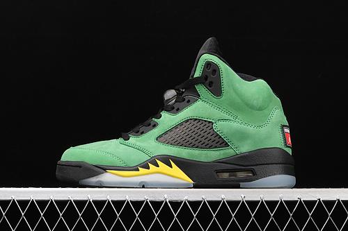 """处理 Air Jordan 5 Retro SE""""Apple Green""""AJ5 乔5俄勒冈苹果绿 CK6631-307"""