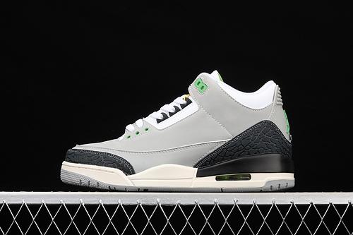 Air Jordan 3 AJ3 乔3叶绿素 手稿 灰绿 篮球鞋 136064-006