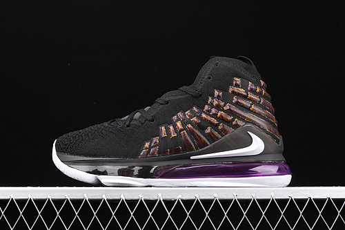 Nk LeBron 17 Black/White勒布朗·詹姆斯17代签名战靴室内实战高帮运动飞织篮球鞋 BQ3177-004