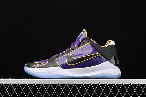 纯原版本 Nk Zoom Kobe 5 Protro Lakers 科比5 湖人限定 低帮运动篮球鞋 CD4991-500