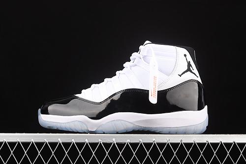 J版 Air Jordan 11 Concord AJ11 乔11康扣黑白 复刻高帮男鞋 真标 真碳纤 篮球鞋 378037-100