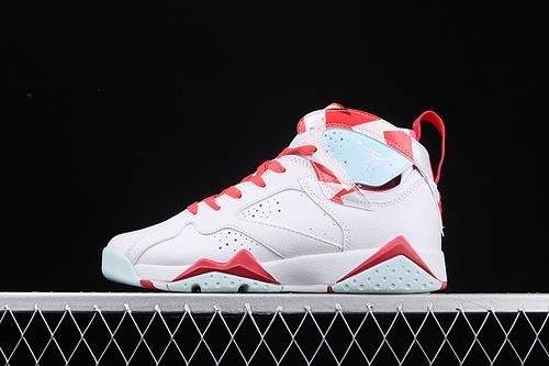 Air Jordan7 Topaz Mist GS AJ7 乔7白粉拼接糖果配色球鞋 442960-104