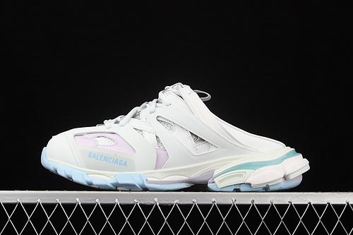 Balenciaga Sneaker Tess s.Gomma MAILLE WHITE/ORANGE 2021ss 巴黎世家3.0 三代户外概念鞋 半拖 W3AC49045