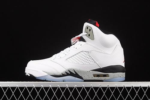 G版 Air Jordan 5 White Cement AJ5 乔5白水泥 136027-104
