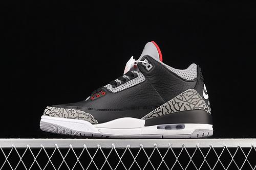 J版 Air Jordan 3 Retro Black Cement (2018) AJ3 乔3复刻黑水泥 854262-001