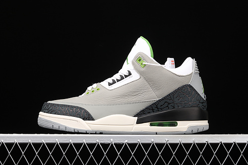 "Air Jordan 3 Retro""Chlorophyll""AJ3 乔3叶绿素 灰绿手稿 136064-006"