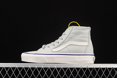Vans Sk8-Hi Tapered 浅灰银超薄帆布高帮休闲板鞋 VN0A4U164U4