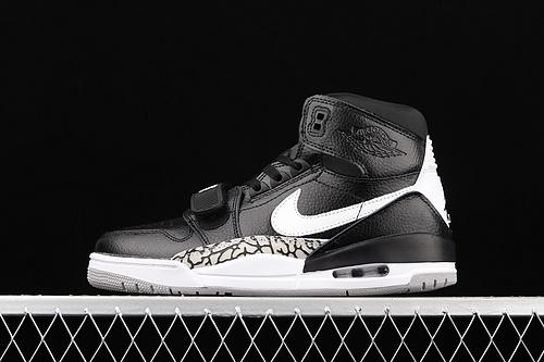 Jordan Legacy 312 AJ1 全黑白配色魔术贴三合一板鞋 AV3922-001
