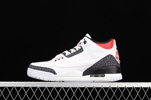 "C版 Air Jordan 3 SE DNM""Fire Red""AJ3 乔3火焰红 牛仔拼色 头层真标 CZ6431-100"