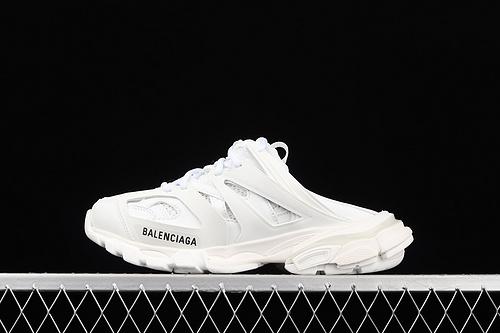 Balenciaga Sneaker Tess s.Gomma MAILLE WHITE/ORANGE 2021ss 巴黎世家3.0 三代户外概念鞋 半拖 W3CP66509