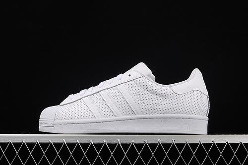 处理 Ad Superstar FV3445 贝壳头50周年限定全白冲孔运动休闲板鞋