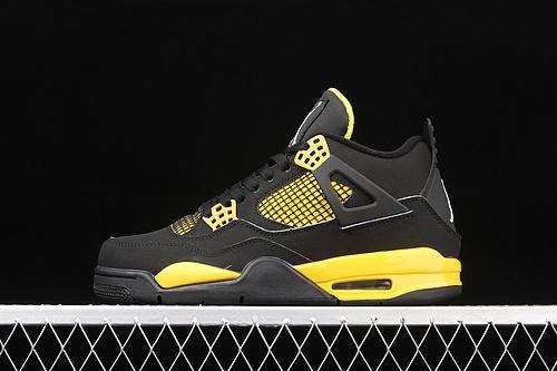 G版 Air Jordan 4 Retro AJ4 乔4黑黄 308497-008