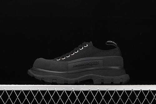 Alexander McQueen/亚历山大麦昆 2020新款 发售 松糕鞋厚底增高帆布鞋 W4L329000
