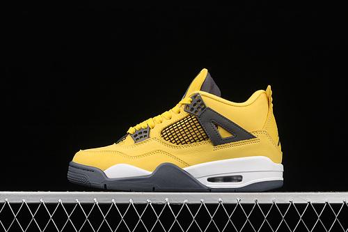"""纯原版本 Air Jordan 4"""" Lightning"""" AJ4 乔4复刻白黄电母 头层篮球鞋 CT8527-700"""