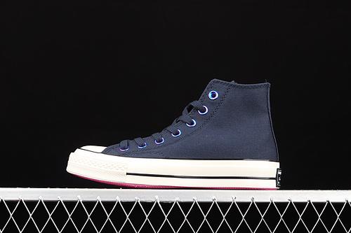 Converse 1970s 魂动城市系列上海限定霓虹暗夜蓝高帮板鞋 170491C