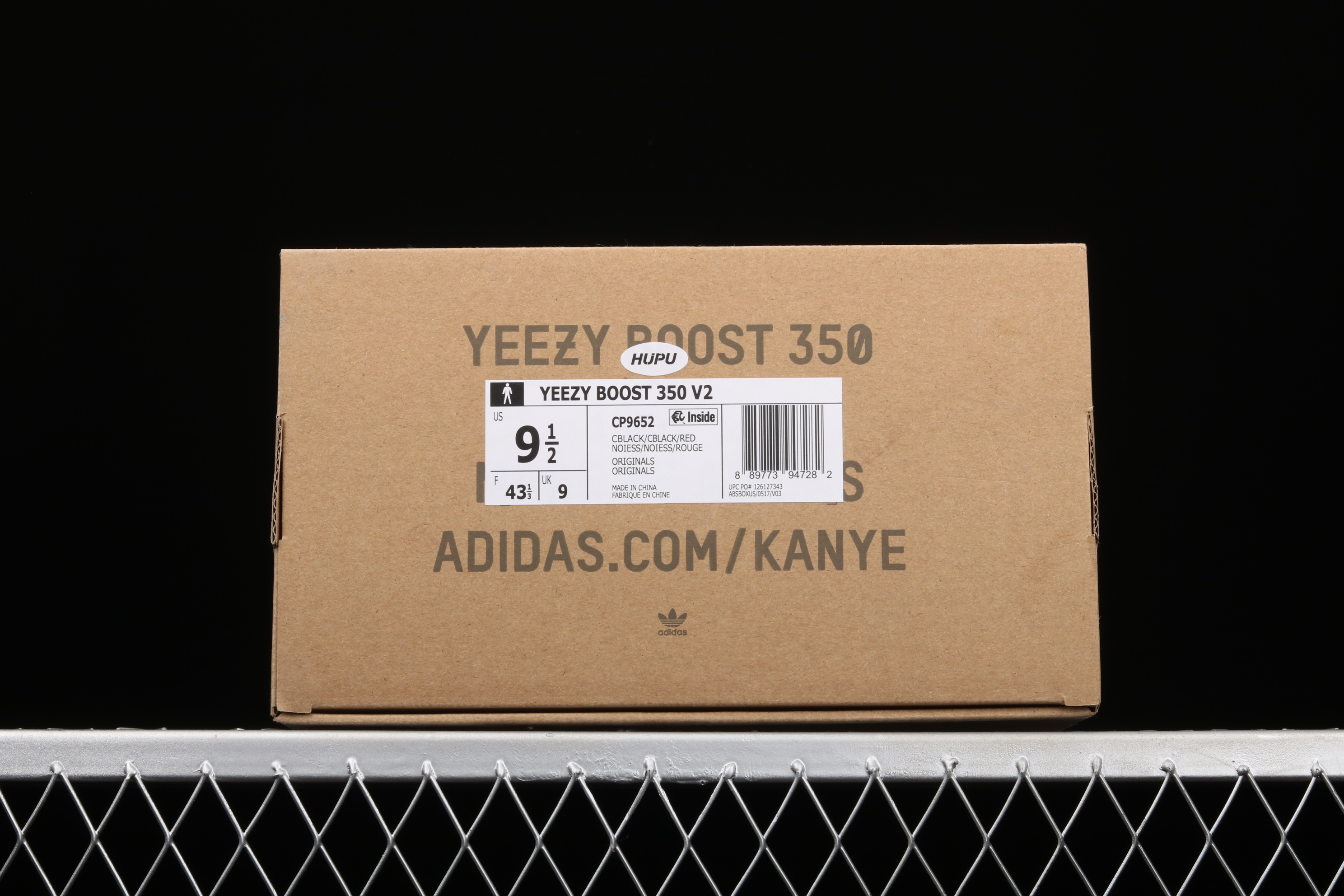 外贸版本 Ad Yeezy 350 V2 Boost Basf CP9652 阿迪达斯椰子350二代 黑红字 巴斯夫爆米花
