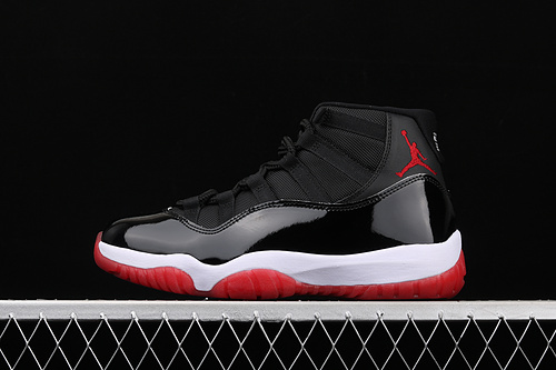 """X版 Air Jordan 11""""Bred""""AJ11 乔11漆皮黑红元年 真标 真碳纤 2019经典复刻高帮篮球鞋 378037-061"""