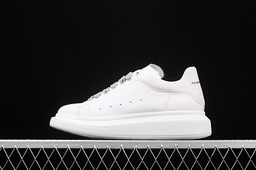 Alexander McQueen Sole Sneakers 麦昆闪光白厚底休闲运动小白鞋