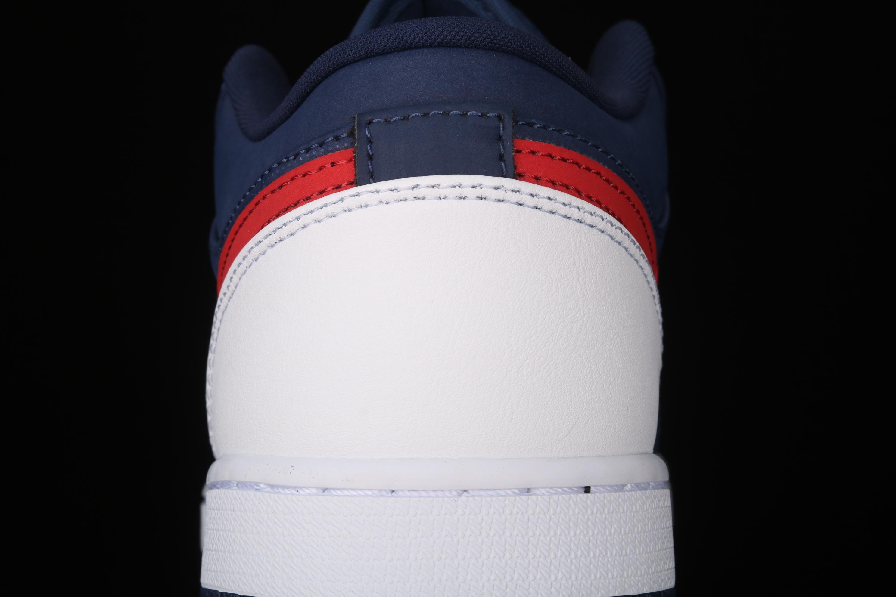 G版纯原 Air Jordan 1 Low AJ1 乔1爱国者蓝红 低帮文化休闲运动板鞋 CZ8454-400