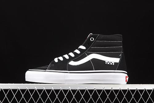 Vans Sk8-Hi 范斯黑色侧边棋盘格子专业滑板鞋 VN0A5FCCY28