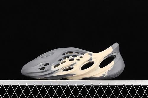 "C版 Ad Yeezy Foam Runner""Ararat""GV7904 一体注塑成型椰子洞洞鞋 卡其灰迷彩"
