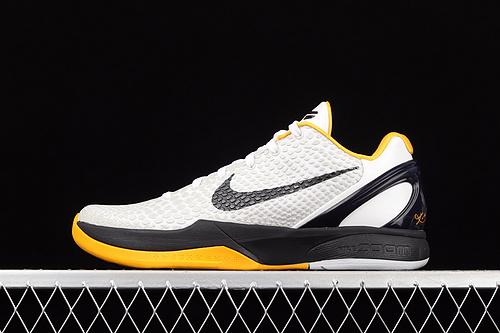纯原版本 Nk Kobe VI Protro 6 DEL SOL科比6代 季后赛 男子实战篮球鞋 CW2190-100