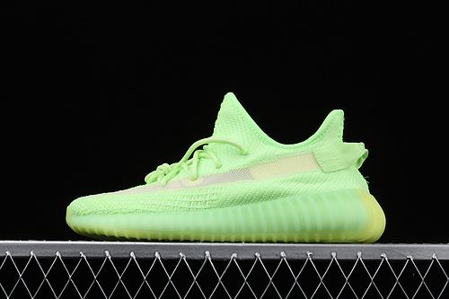 #ZG版本 Adidas Yeezy 350 Boost V2 EG5293 阿迪达斯椰子350二代 全新荧光绿镂空蚕丝配色