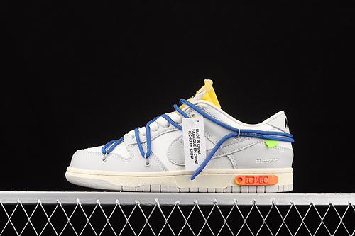 """性价版 Off-White x Nk Dunk Low""""04 of 50""""OW 灰色 休闲运动滑板鞋 DM1602-112"""