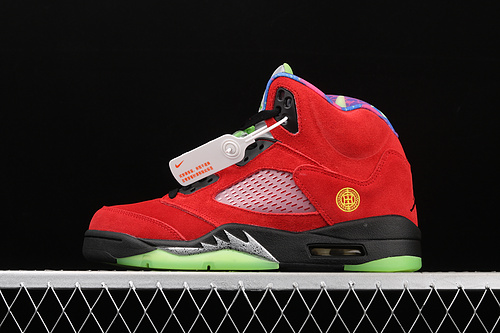"J版 Air Jordan 5""What The""AJ5 乔5红黄鸳鸯 CZ5725-700"