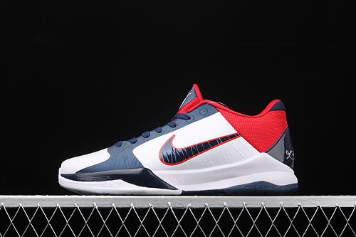 "Nk Zoom Kobe V Protro""白蓝红""科比5 2020复刻低帮运动篮球鞋 386430-103"