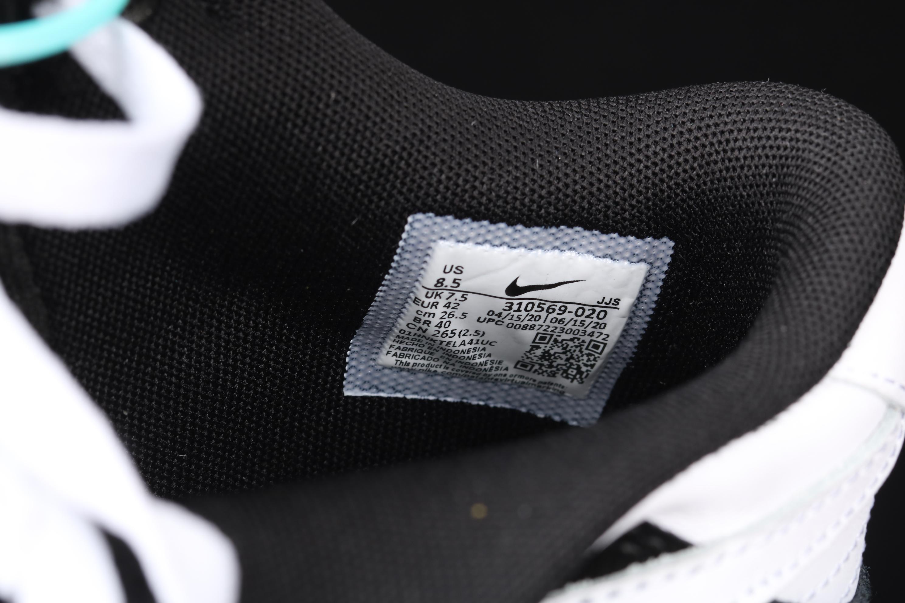 "J版 Nk SB Zoom Dunk Low GS ""雪地黑白""扣篮系列低帮休闲运动滑板板鞋 310569-020"