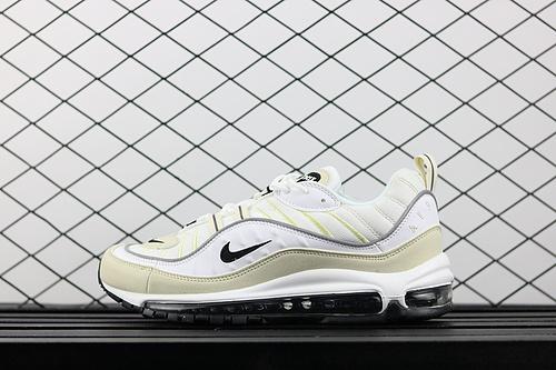 ¥130 Nike Air Max 98 奶白色复古子弹气垫跑鞋 AH6799-102