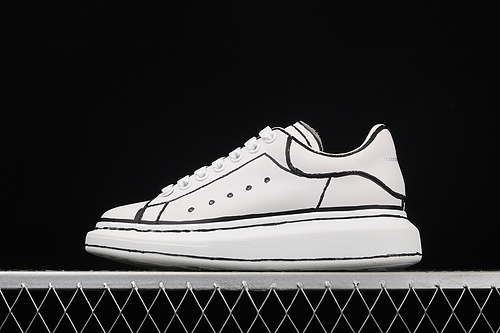 Alexander McQueen Sole Sneakers 麦昆涂鸦白黑