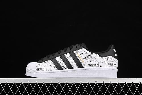 Adidas Originals Superstar FV2819 贝壳头满印logo经典运动鞋