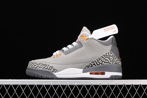 """J版 Air Jordan 3""""Cool Grey""""AJ3 乔3灰狼 CT8532-012"""