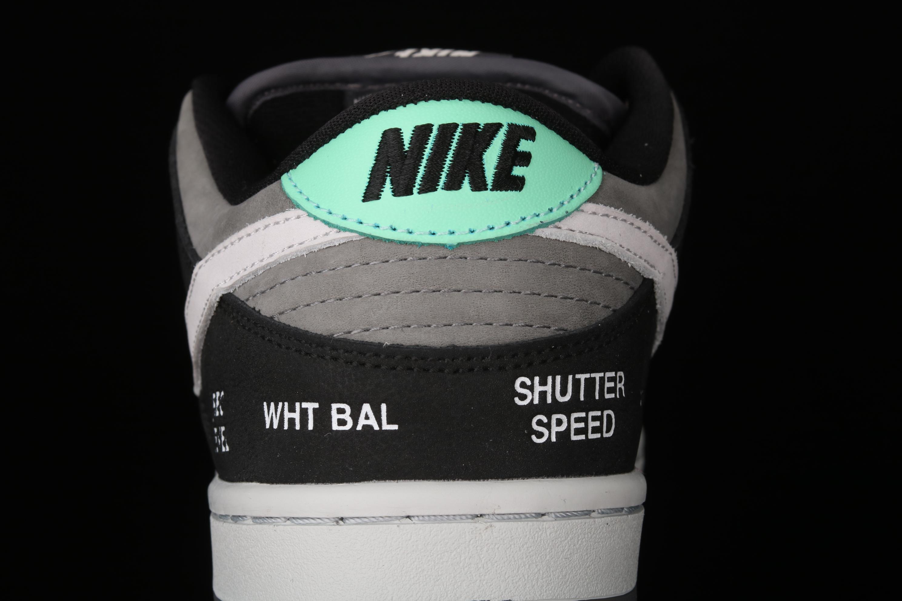 J版 Nk Dunk SB Low Pro ISO 摄相机联名 黑灰扣篮系列 复古休闲运动滑板鞋 CV1659-001