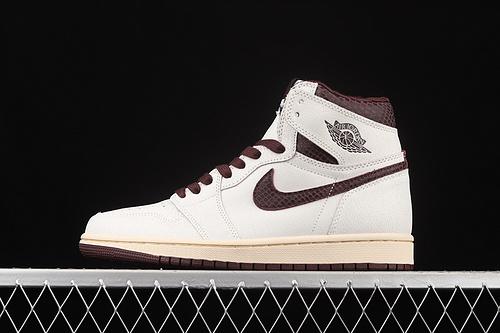 L版 A Ma Maniere x Air Jordan 1 High OG AJ1 乔1联名款蛇皮纹 高帮篮球鞋 DO7097-100