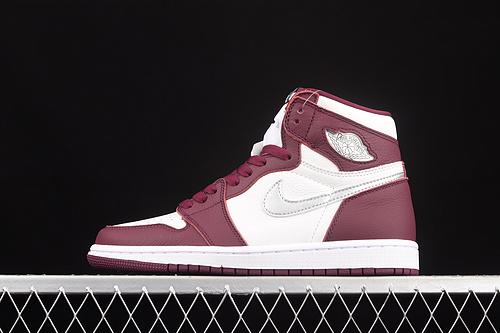 """纯原版本 Air Jordan 1 Retro High OG""""Bordeaux""""AJ1 乔1 波尔多 酒红色 高帮篮球鞋 555088-611"""