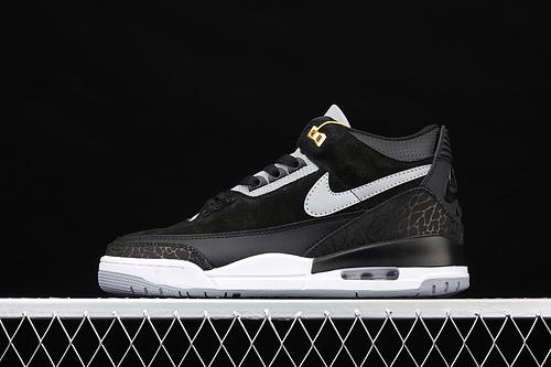 G版 Air Jordan 3 Tinker Black CementAJ3 乔3黑白手稿3M反光 复古文化篮球鞋 CK4348-007