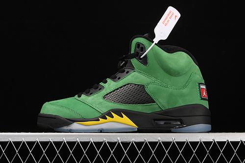 "Air Jordan 5 SE""Oregon Ducks""AJ5 乔5 俄勒冈 苹果绿 CK6631-307"
