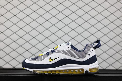 "¥130 Nike Air Max 98 ""Tour Yellow""复古运动全掌气垫跑鞋 640744-105"