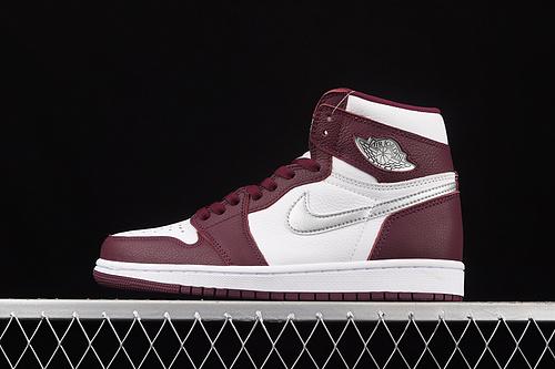 "L版 Air Jordan 1 Retro High OG""Bordeaux""AJ1 乔1 波尔多 酒红色 高帮篮球鞋 555088-611"