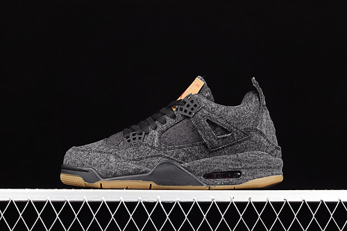 G版 Levi's x Air Jordan 4 AJ4 乔4 李维斯联名 单宁黑色 AO2571-001