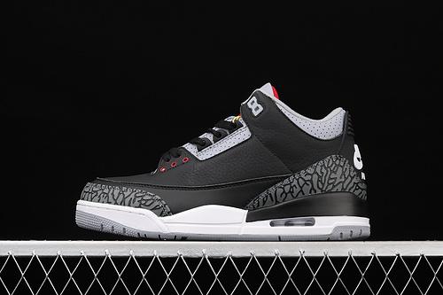 G版 Air Jordan 3 Retro Black Cement (2018) AJ3 乔3复刻黑水泥 854262-001