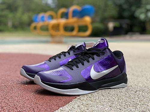 zk5紫色 纯原版支持实战 ,2010 Nike Zoom KOBE V 5 紫色 386429-500
