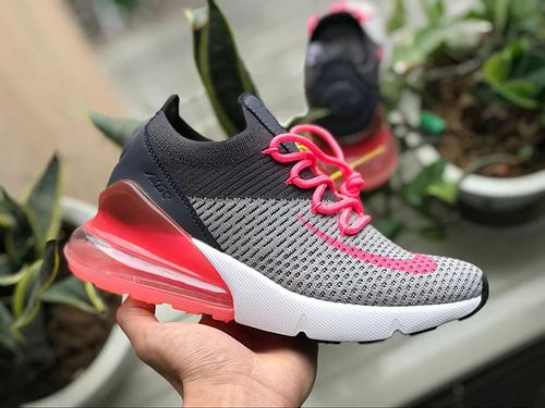 Max270灰粉 Nike AIR MAX270气垫黑灰粉 跑步鞋女休闲运动鞋 AH8050-010 尺码:36-39