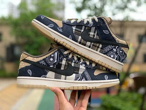 sb腰果两种鞋盒版 Nike Dunk TS联名 鬼脸 travis scott 腰果花 CT5053-001 尺码:36-47.5